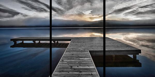 Lake Arrowhead Pier -  Trip Tych