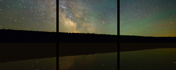 Lake Fanny Hooe and the Milky Way - Trip Tych