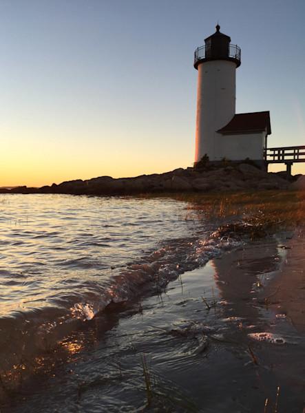 annisquam lighthouse beach sunset wave gloucester