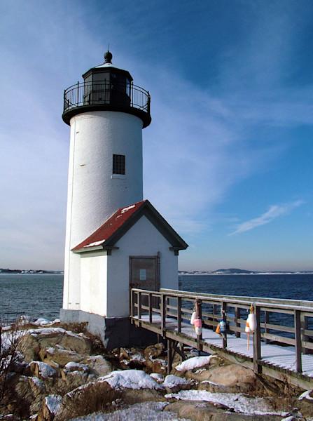 annisquam lighthouse beach snow winter seascape