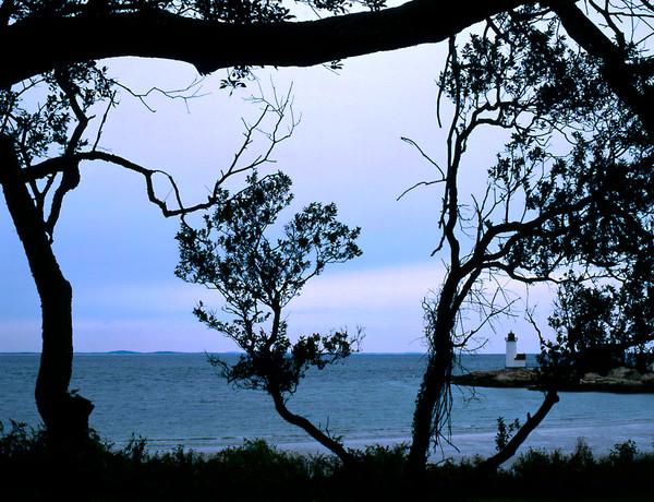 annisquam lighthouse silhouette seascape gloucester