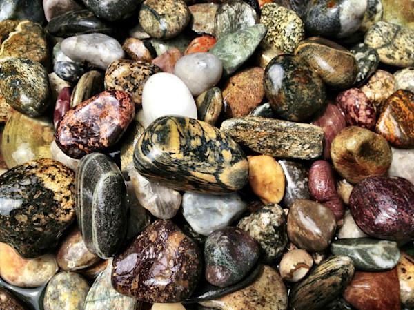 colorful beach rocks