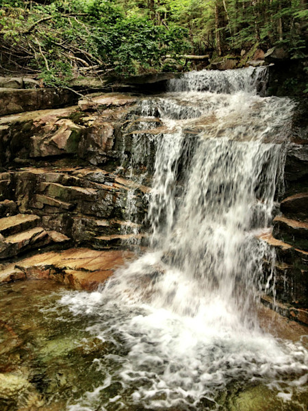 Lower Waterfall Franconia New Hampshire White Mountains