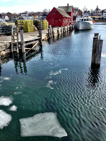 rockport harbor ice floe winter motif #1