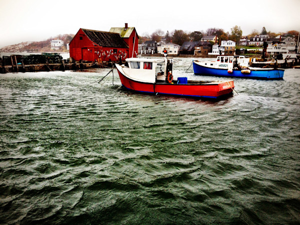 rockport harbor winter storm motif #1 lobster boats