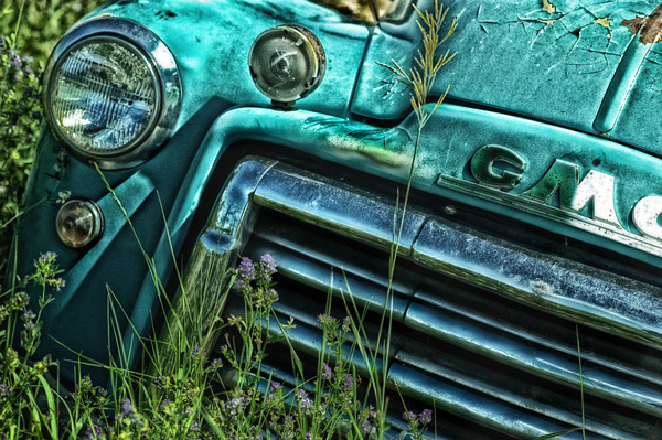 Classic GMC truck art prints/Vintage 1950's collectible truck fine art photography prints by Thomas Schoeller