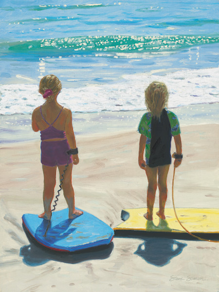 Girls on Boogie Boards
