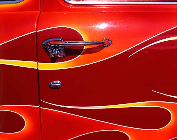 Flaming Ford Door