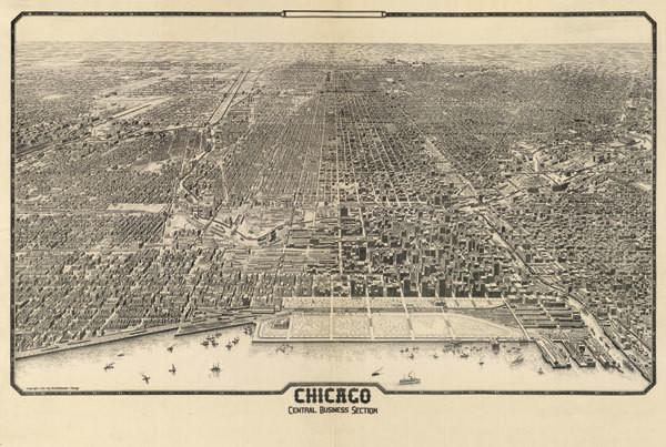 1910 Chicago Map