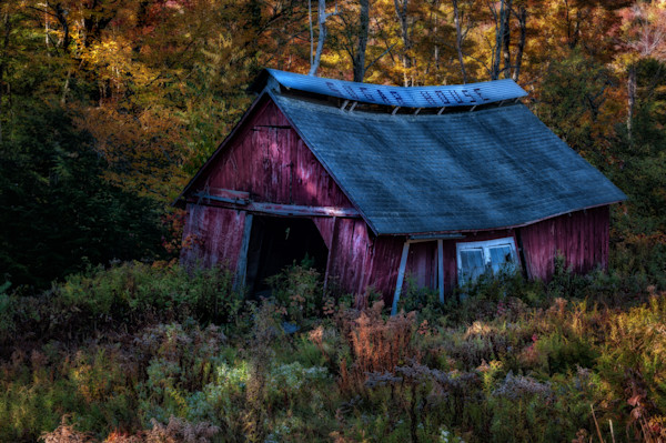 Vintage New England Sugar shack barn fine art prints/Old barn poster sized prints. Country decor by Thomas Schoeller