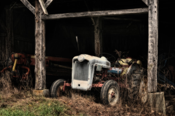 Vintage antique farm tractor prints for sale/Old Ford tractor poster sized fine art prints by Thomas Schoeller