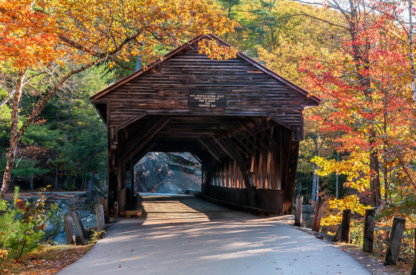 Albany Covered bridge Fine Art print by Thomas Schoeller.