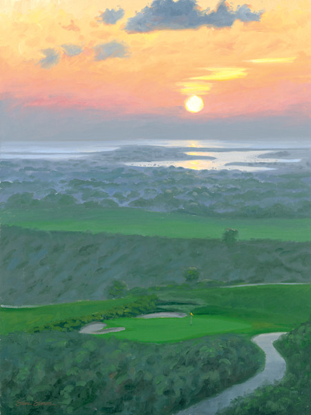 Pelican Hills Golf Club at sunset