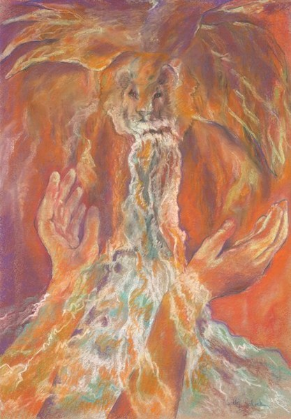 """I Will Lift Up My Hands"" by Cathy Schock 