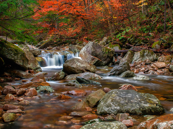 Vermont fine art nature prints/mountain streams and waterfalls-fall foliage landscape prints by Thomas Schoeller