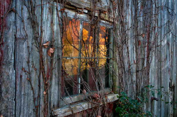 Vintage window art prints/rustic New England barn fine art photography.