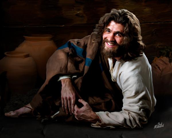 Joyous Jesus smiling