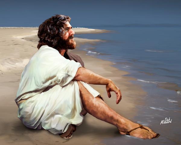 Jesus by the seashore