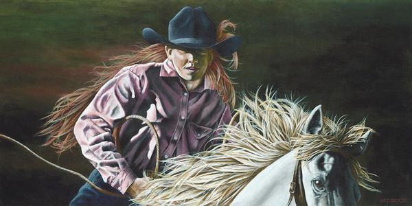 Cutting Cow Girl