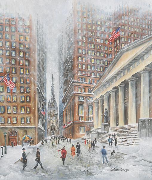 Wall Street with Trinity Church