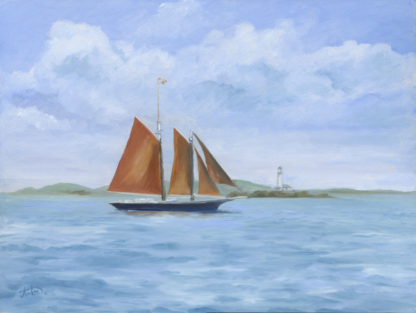 sailing,art,gyclee,painting,reproduction,anton uhl