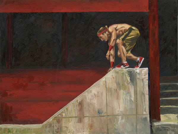 parkour,art,gyclee,painting,reproduction,anton uhl