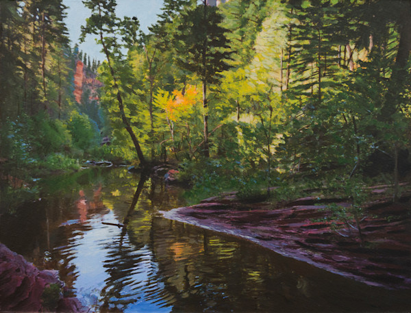 Oak Creek Canyon, Arizona, Sedona, Landscape, Acrylic, Painting,