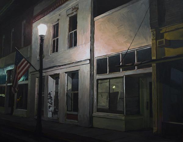 Nocturne, Acrylic, Painting, Alabama, Landscape,