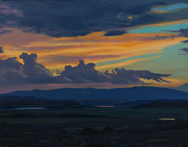 New Mexico, Acrylic, Painting, Sunset, Landscape, Southwest