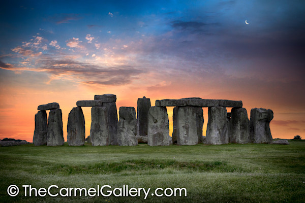 Moonrise over Stonehenge