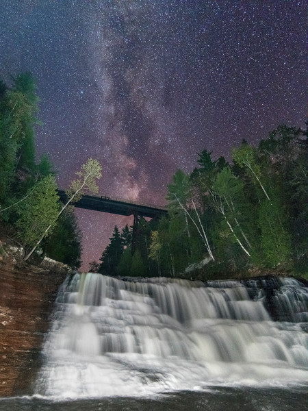 Agate Falls Under the Milky Way