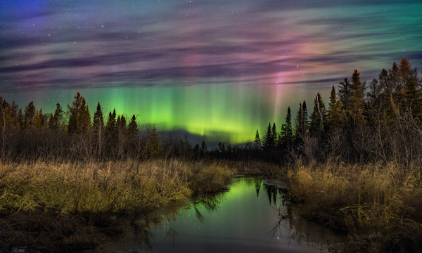 aurora borealis northern lights Milky Way photography