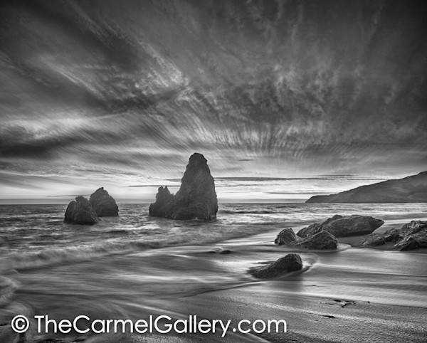 Sea Stacks Marin Headlands BW