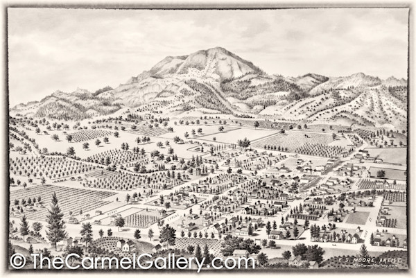 Calistoga and Mt St Helena 1888