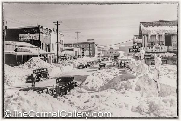 Truckee Main St Winter 1930's