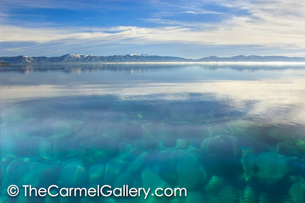 Super blue water clarity of Lake Tahoe