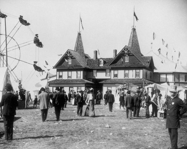 Early Ferris Wheel At The Danbury State Fair