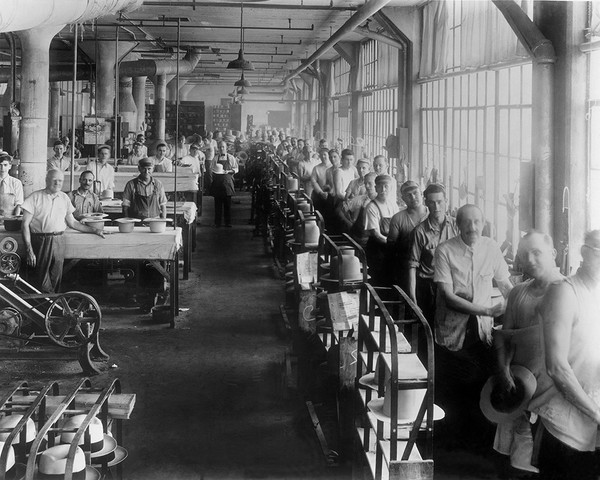 The Finishing Room at the Mallory Hat Factory