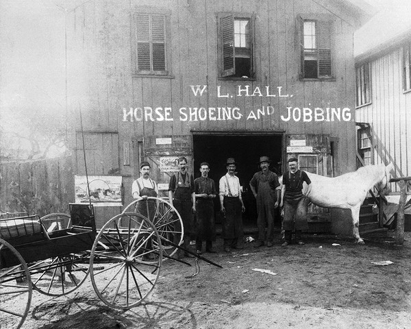W.L. Hall's Horse Shoeing Shop