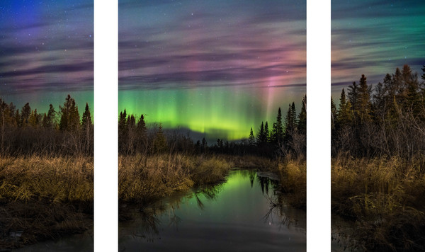 Shamrock Aurora Borealis captured in northern Minnesota