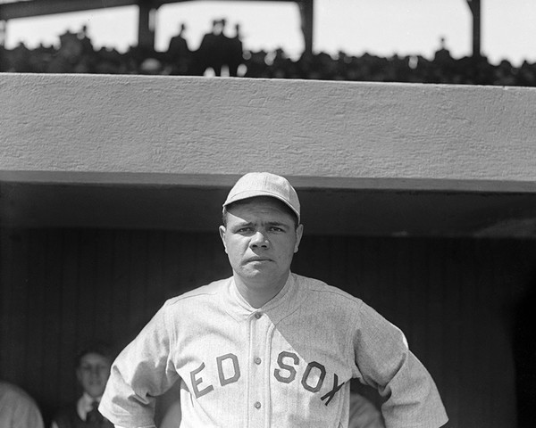 Babe Ruth with the Red Sox