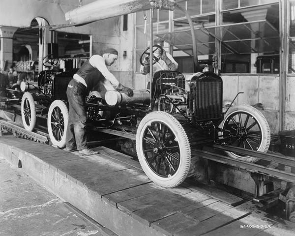 Early Automotive Assembly Line