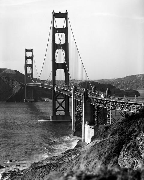 Golden Gate Bridge Sea Side View
