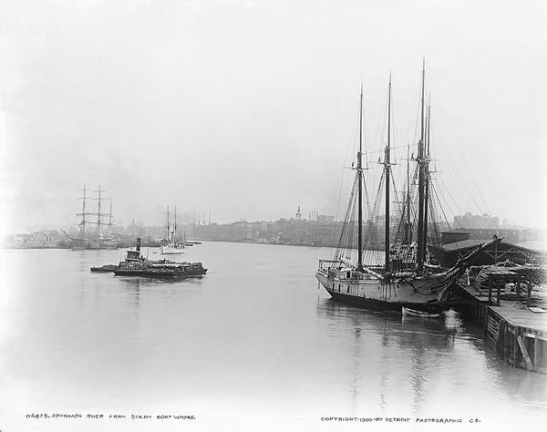 Savannah River From Steamboat Wharf
