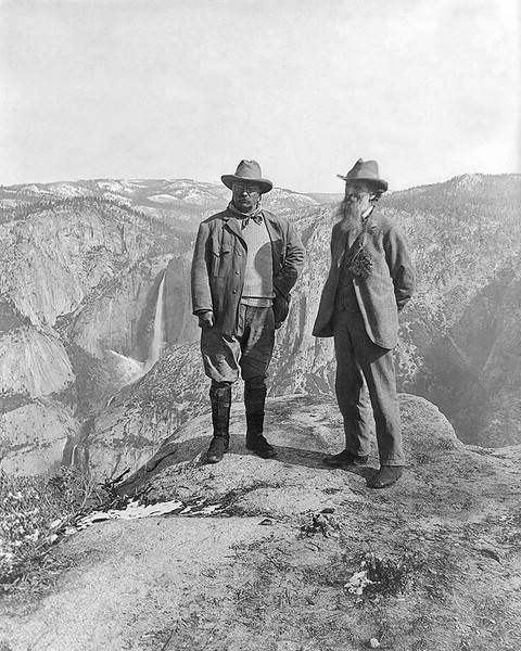 Theodore Roosevelt & John Muir On Glacier Point