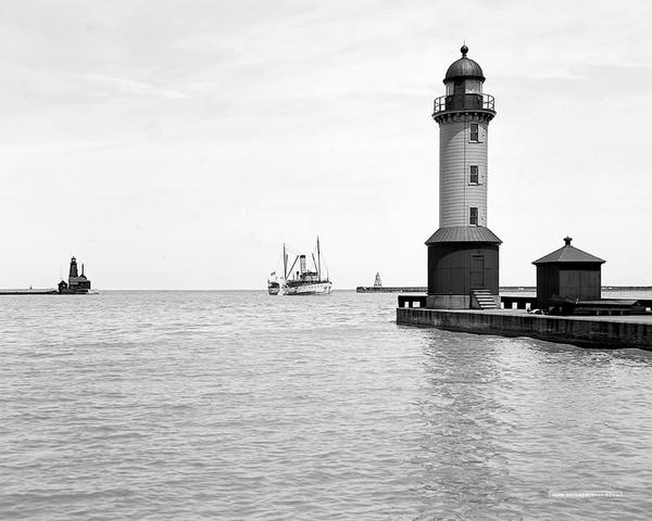 Harbor Entrance In Cleveland, Ohio