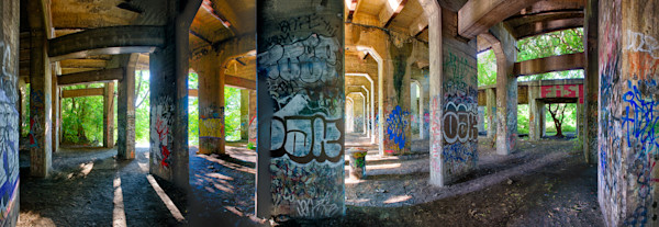 Graffiti Panorama Photograph for Sale as Fine Art