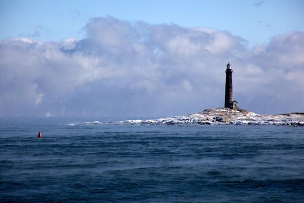 Lighthouse Sea Smoke Twinlights Thatchers Island Ice Northlight