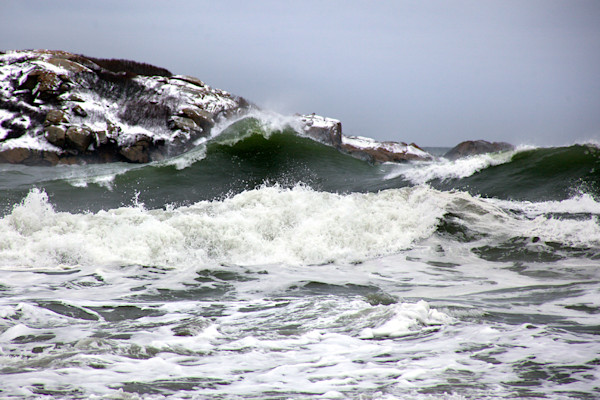 Green Wave Winter Storm Good Harbor Beach