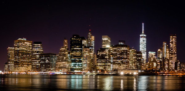 Night Skyline of NYC Photograph for Sale as Fine Art